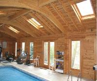 Bespoke Log Cabins - Log Poolhouse Enclosure & Cabin