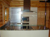 Custom Timber Buildings - Log House Kitchen