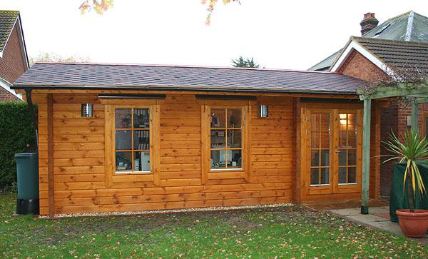 Lymington Home Office Log Cabin